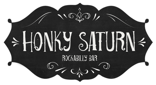 logo-design-honky-saturn-rockabilly-bar