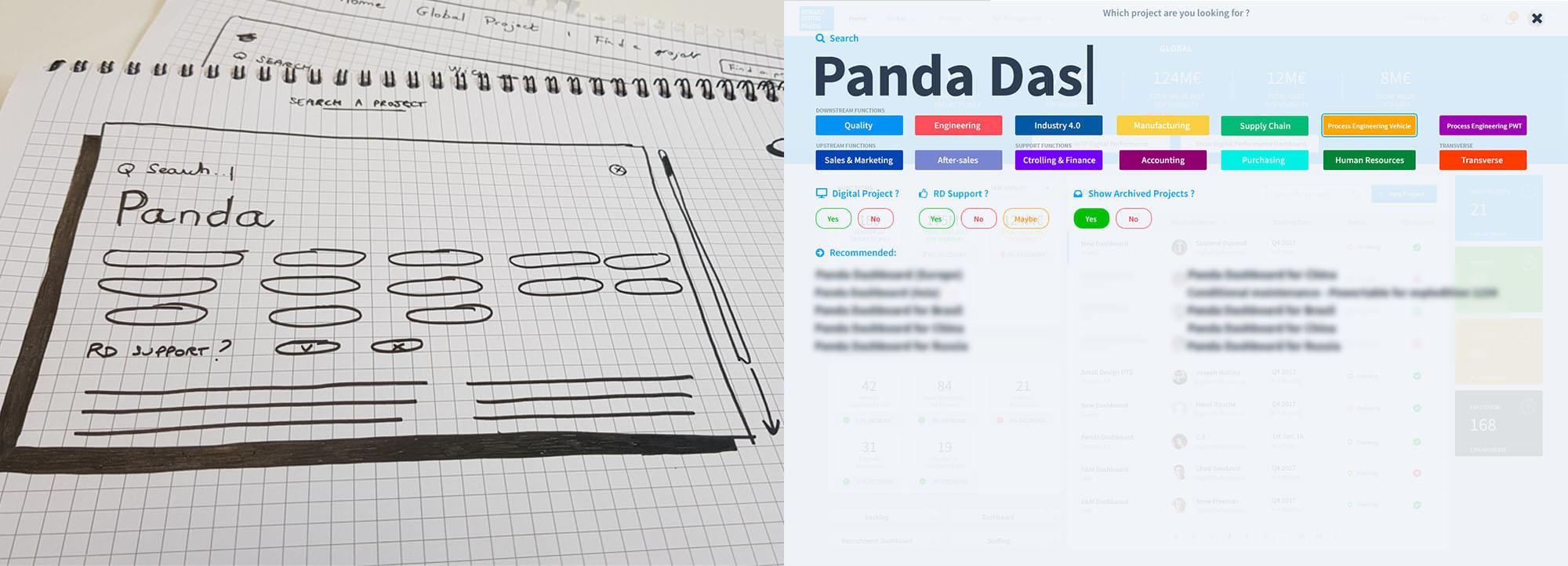 Panda-dashoard-ux-find-a-project-results-blurred